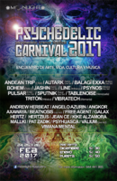 Party Flyer Psychedelic Carnival 2017 - psychedelic trance festival 24 Feb '17, 15:00