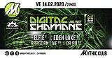 Party flyer: Digital Shamans Label Party 14 Feb '20, 22:00