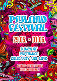 Party Flyer Psyland Festival 3 Days of Psytrance,Solidarity and Love 29. Mai. 20, 14:00