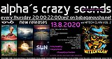 Party flyer: alpha.s crazy sounds - IONO MUSIC new releases + va HITECH CLAN VOL2 13 Aug '20, 20:00