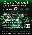 Party Flyer DarkForest psychedelic Night 21 Aug '20, 18:00