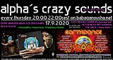 Party flyer: alpha.s crazy sounds - DARK WHISPER + EARTHDANCE preview 17 Sep '20, 20:00