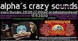 Party Flyer alpha.s crazy sounds - DARK WHISPER + EARTHDANCE preview 17 Sep '20, 20:00