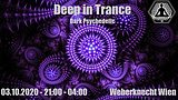 Party flyer: Deep in Trance - Dark Psychedelic - 21:00 - 01:00 !!! 3 Oct '20, 21:00