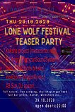 Party flyer: Lone Wolf prod. Imc teaser party 29 Oct '20, 22:00