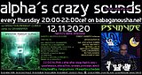 Party Flyer alpha.s crazy sounds - va OPERATION MIDNIGHT CLIMAX + PSYNYDE in-the-mix 12 Nov '20, 20:00