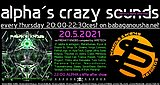 Party Flyer alpha.s crazy sounds: va FREAKY KNOBS 3 compiled by Apetech 20. Mai. 21, 20:00
