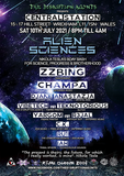 Party Flyer THE D1SRUPT1ON AG3NTS presents ALIEN SCIENCES – ZZBING LIVE!!! 10. Jul. 21, 20:00