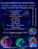 Party Flyer Dj-Goachesees Fullmoon Knall 25 Sep '21, 12:00