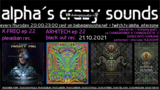 alpha.s crazy sounds: K-FREQ ep, ARHITECH ep, va TANNGRISNIER & TANNGNJOSTR III 21 Oct '21, 20:00