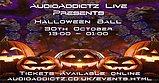 Party Flyer AudioAddictz Live Presents Halloween Ball 30 Oct '21, 13:00