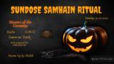 Party Flyer Sundose Samhain Ritual 31 Oct '21, 22:00
